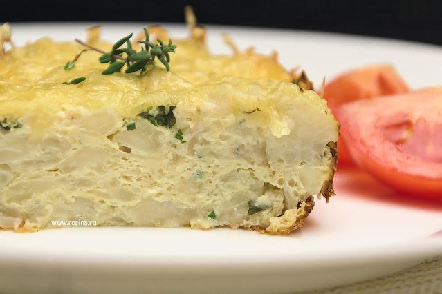Запеченная цветная капуста с сыром и яйцом пошаговый рецепт фото