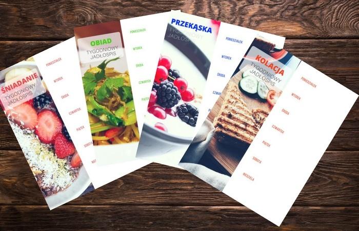Tygodniowy planner posiłków + gotowe jadłospisy do pobrania