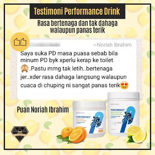 Testimoni Performance Drink Shaklee