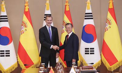 Moon Jae In, en la visita del Presidente de Corea del Sur a España