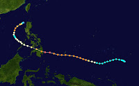 TYPHOON BOPHA STORM PATH
