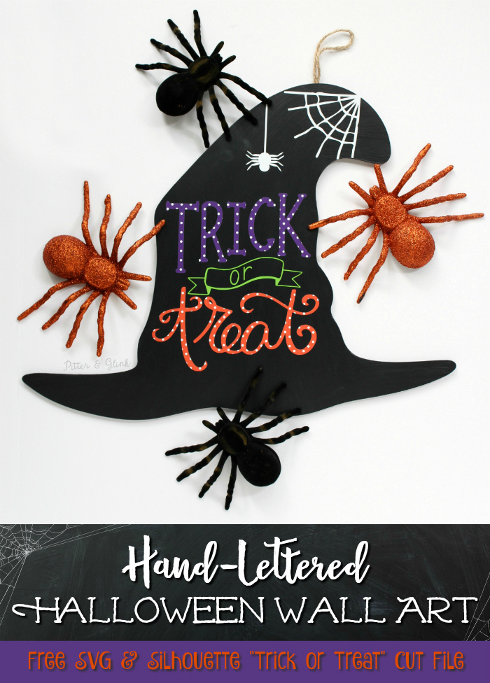 hand lettered halloween wall art