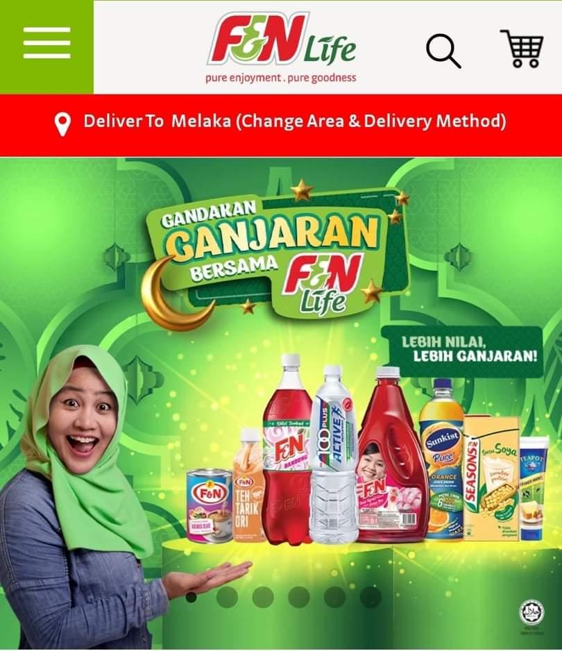 Beli belah online f&n life apps