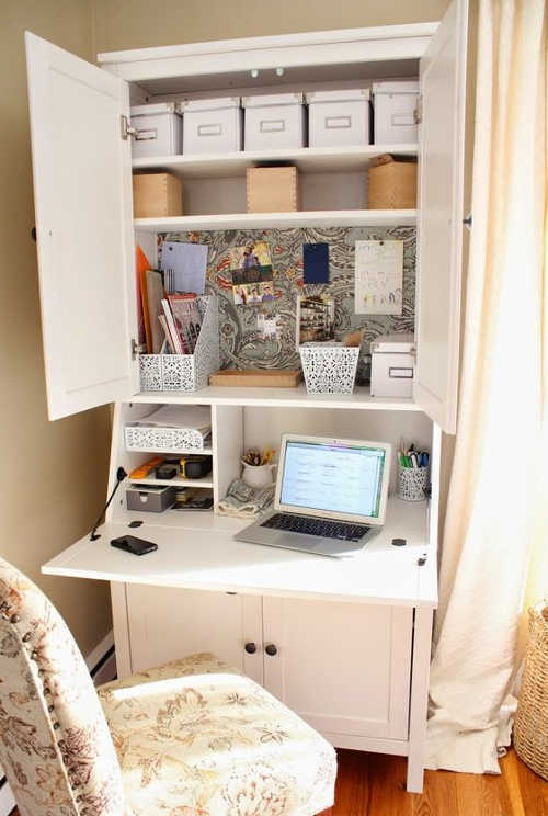 DIY Home Sweet Home: Hidden Office Storage and Organization