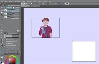 tutorial cara menambahkan gambar ke dalam bingkai di Clip Studio Paint