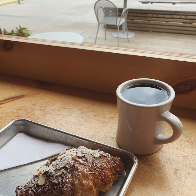 wild love knoxville - coffee and almond frangipane croissant