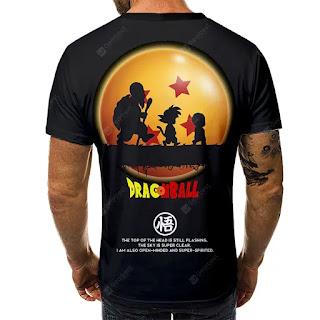 Camiseta Goku, Krillin y Maestro Roshi