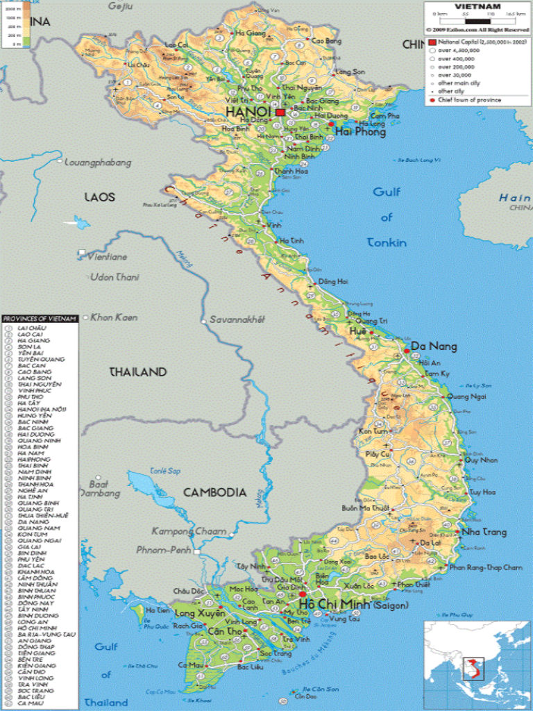 Quang Ngai Vietnam Map.Provinces Of Vietnam