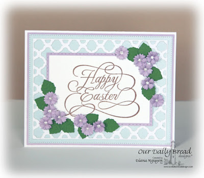 Our Daily Bread Designs Stamp Set: Happy Easter, Our Daily Bread Designs Custom Dies: Easter Eggs, Boho Background, Flourished Star Pattern, Double Stitched Rectangles, Rectangles, Pretty Posies, Our Daily Bread Designs Paper Collection: Pastel Paper Pack 2016
