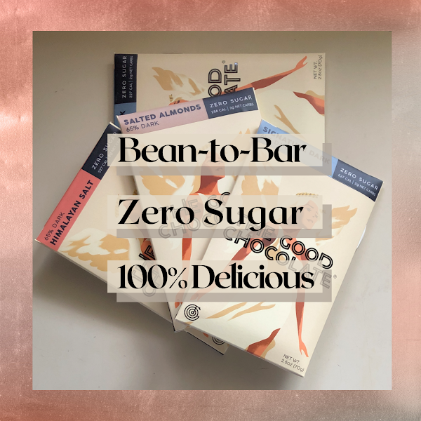 The Good Chocolate bars - Bean-to-Bar, Zero Sugar, 100% Delicious
