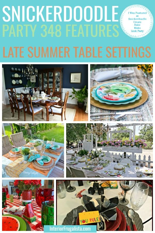 Late Summer Table Settings - Snickerdoodle Party 348 Features