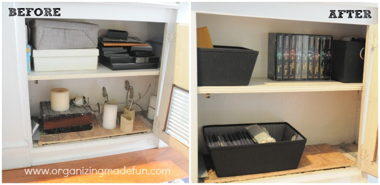 How i declutter organizing made fun how i declutter - Declutter before and after ...