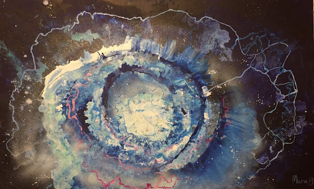 Maru Prats arte abstracto acrílico lienzo eye of the universe