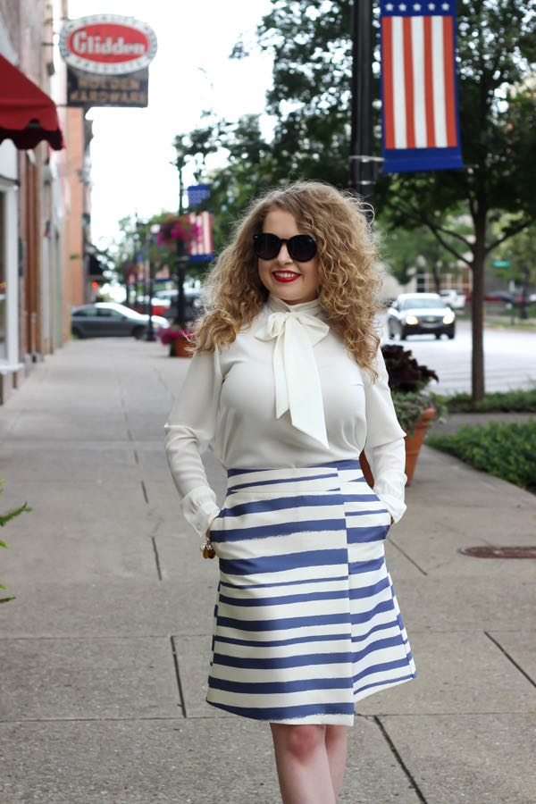 Topshop Stripe Skirt