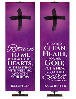 Ash Wednesday Banners from PraiseBanners