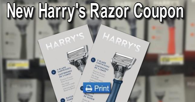 Print New Harry's Razor Coupon