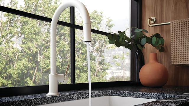 Conserve water with this Brizo efficient faucet.