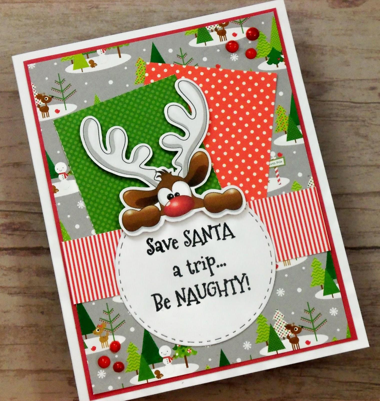 Cardz Tv Paper Play Sketch 52 Naughty Christmas Card