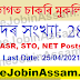 ASRB Recruitment 2021 – Apply Online For 287 ASR, STO, NET Posts @ www.asrb.org.in