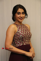 Actress Regina Candra Latest Stills in Maroon Long Dress at Saravanan Irukka Bayamaen Movie Success Meet .COM 0015.jpg