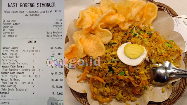 Kuliner bandung Enak dan Murah Nasi Goreng Mongol Jalan Dipati ukur No 7 Kota Bandung