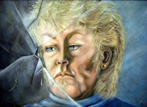 Self Portrait ~ Oil on canvas 36 x 42 1997  Donation to the Minden Health Association of Canada. Timeless Expression by Maguire
