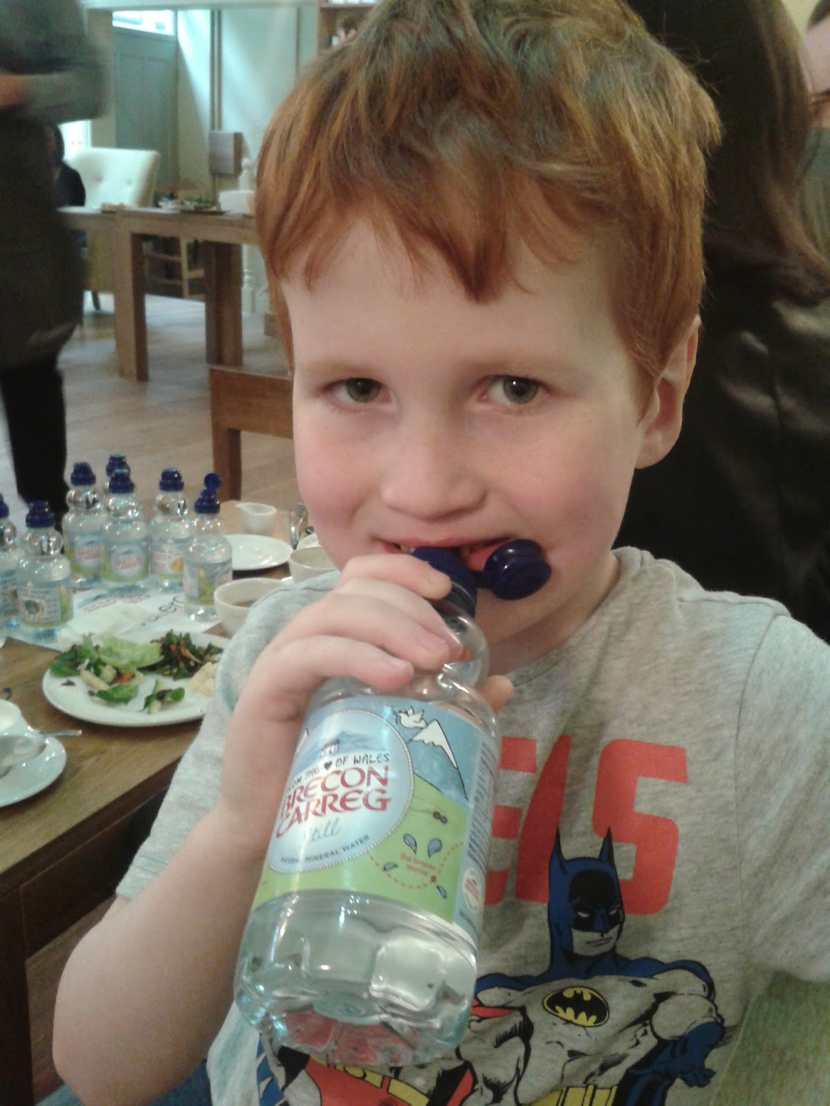 things mums say - Ieuan drinking bottled water