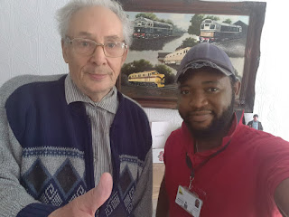 NEWS: Meet Colin Wheeler the 80years old British Engineer that built Nigeria trains in 1958 [Watch Video]