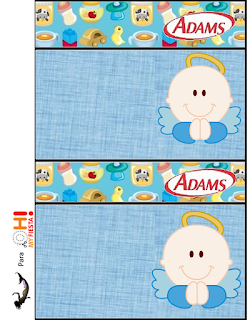 Adams gum labels  Angel Boy Free printable.