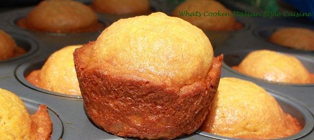 these are freshly baked fresh fruit mango muffins
