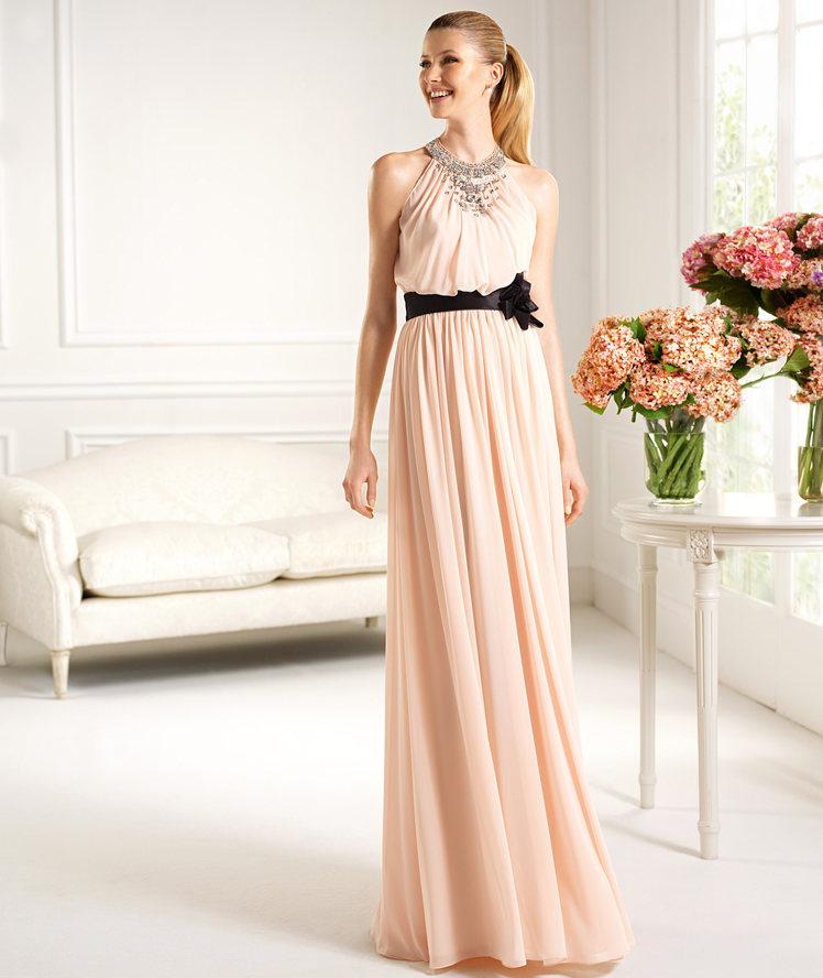 Vestidos largos rosa clara 2013
