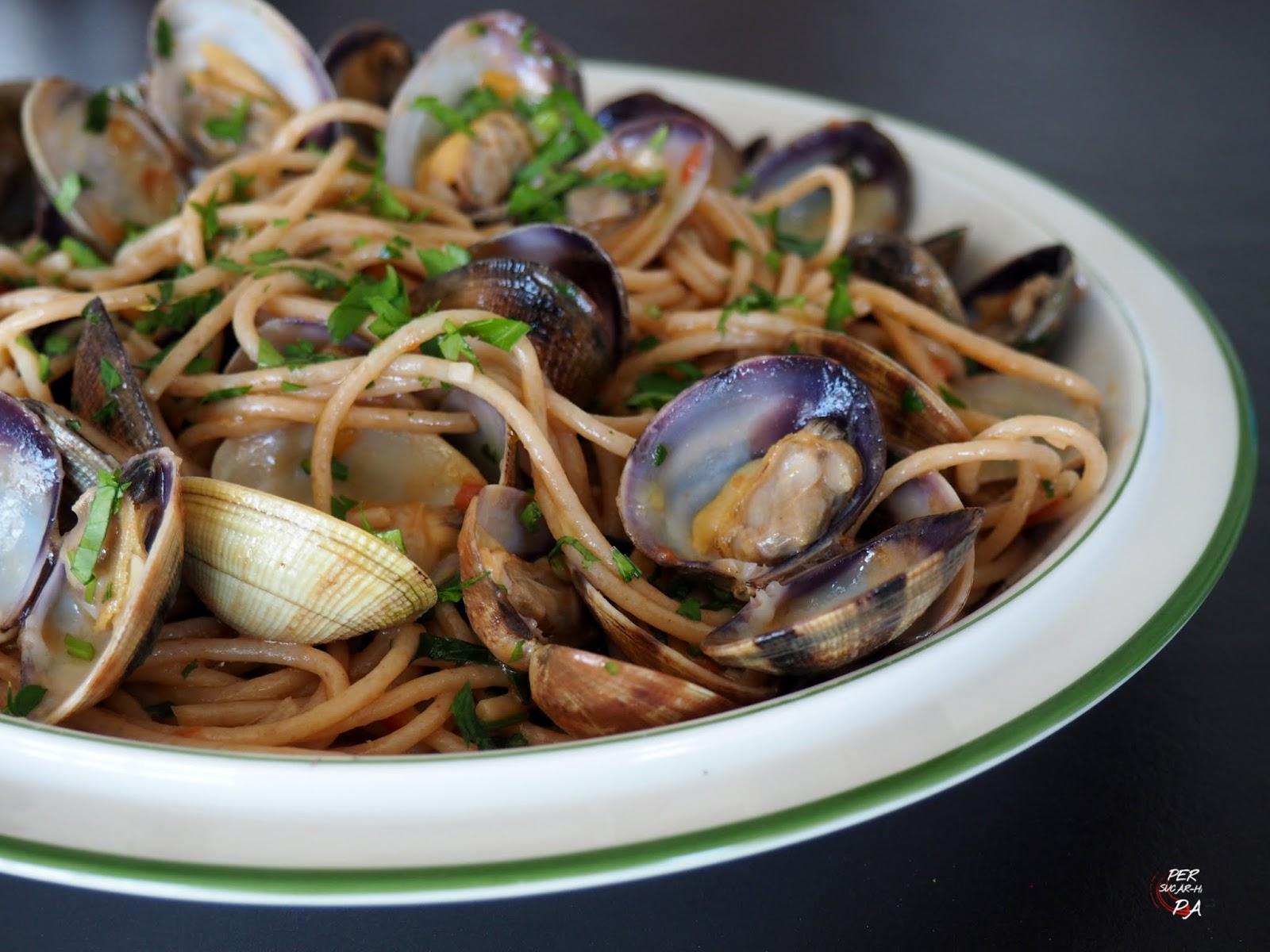 Per sucar hi pa gastronom a y viajes espaguetis con almejas - Espaguetis con almejas ...