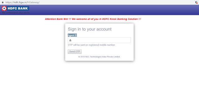 HOW TO LOGIN HDFC BC POINT Through CSC In HINDI