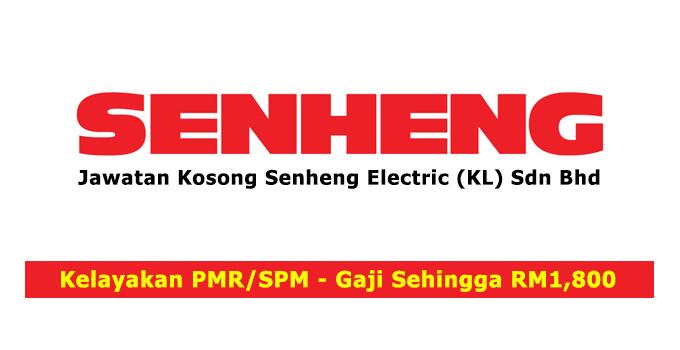 Jawatan Kosong Senheng Electric (KL) Sdn Bhd