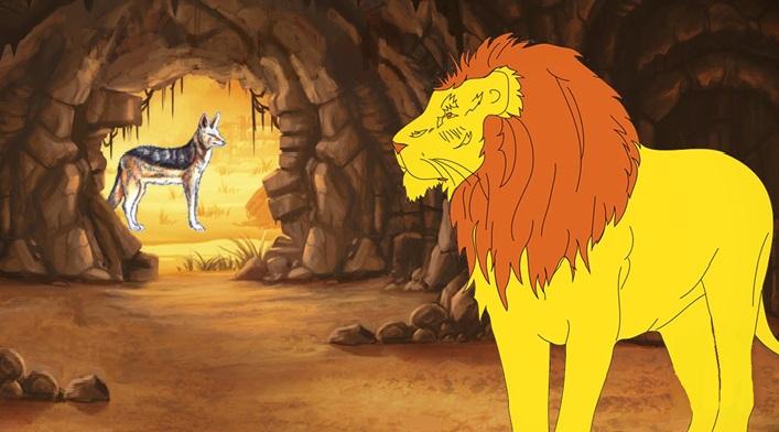 Il leone sciocco e lo sciacallo - Anonimo