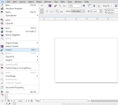 cara memasukan file photoshop ke corel draw
