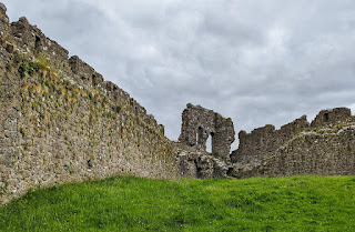 Inside the ruins of Castle Roche in County Louth Ireland