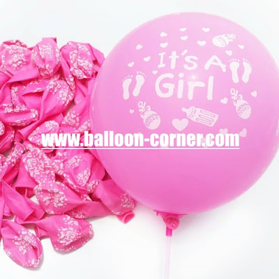 Balon Latex Print It's A Girl
