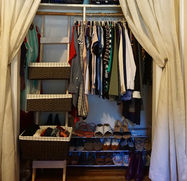 Fish Out Of Closet Diy Storage Ladder