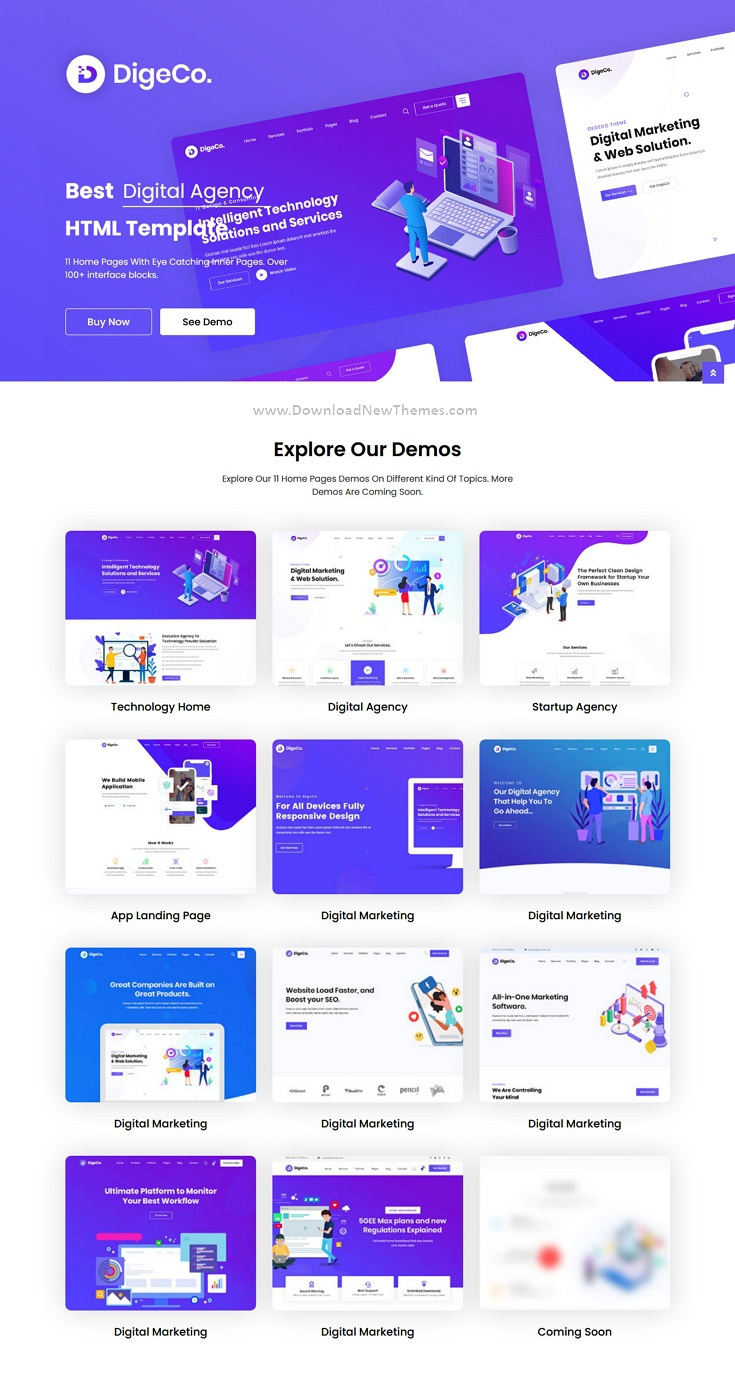 Startup Agency HTML Template