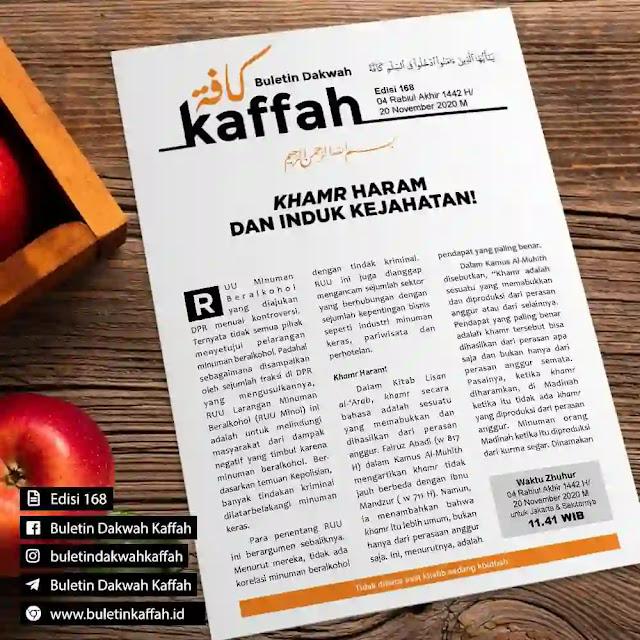 Buletin Kaffah No. 168 (04 Rabiul Akhir 1442 H/20 November 2020 M)