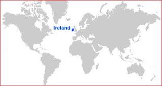 Gambar Peta letak Irlandia