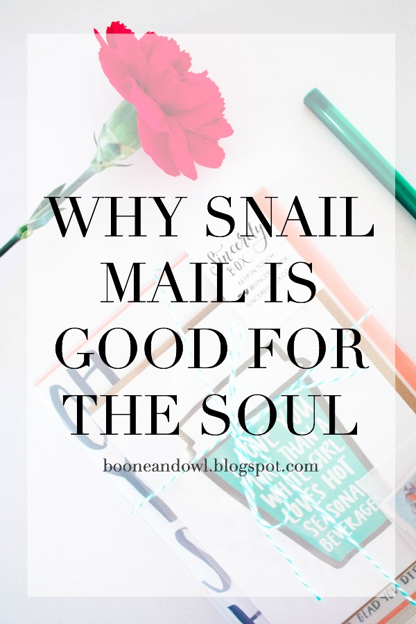Why Snail Mail Is Good For The Soul + A Giveaway