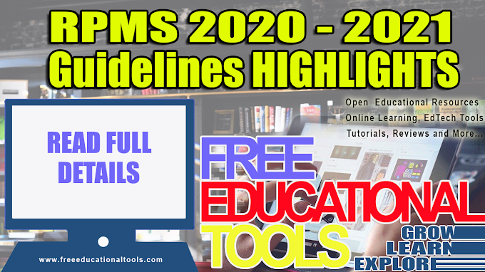 RPMS 2020-2021 Comprehensive Guidelines (HIGHLIGHTS)