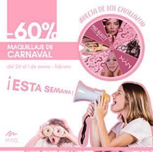 60% de descuento en maquillaje de carnaval