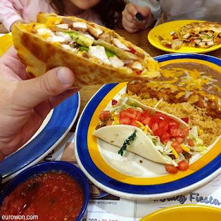 Taco mexicano en Corea