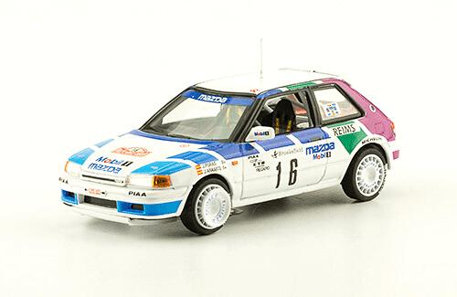 collezione rally monte carlo Mazda 323 GTX 1991 J. Puras - J. Arrarte