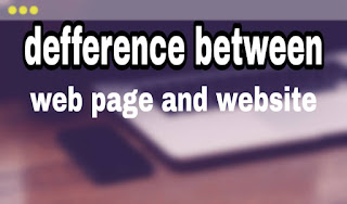 difference between web page and website in hindi.