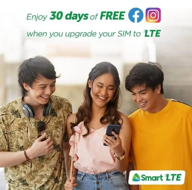 Get 30GB of FREE Data When You Upgrade Your Smart or TNT SIM to LTE