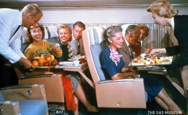 تطور وجبات رحلات الطيران